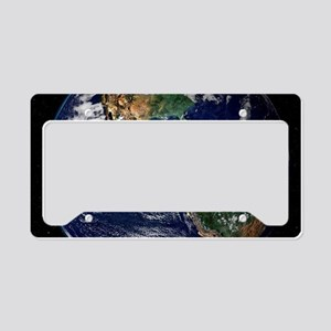 universe galaxy planet earth License Plate Holder