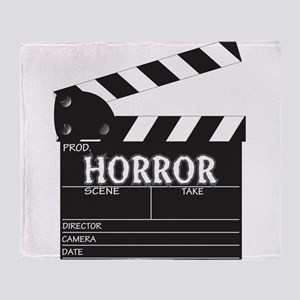 Clapper Board Horror Throw Blanket