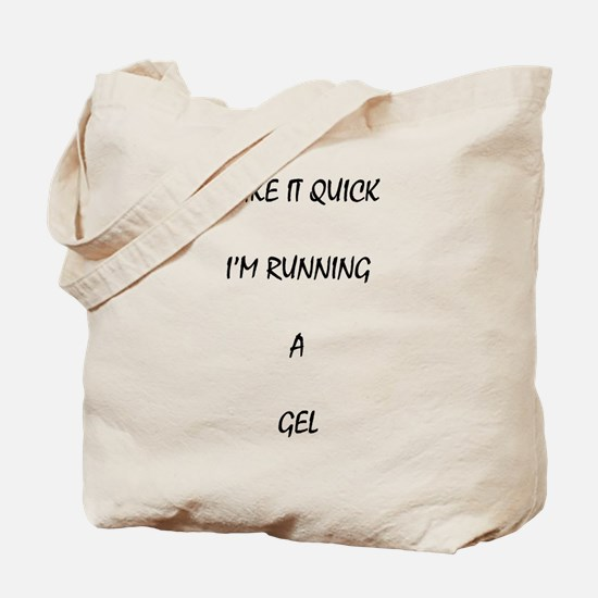 Cute Geeks running Tote Bag
