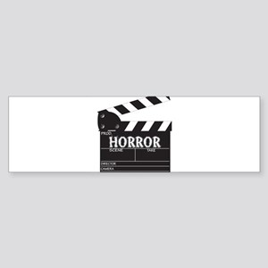 Clapper Board Horror Bumper Sticker