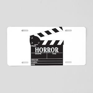 Clapper Board Horror Aluminum License Plate