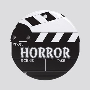 Clapper Board Horror Round Ornament