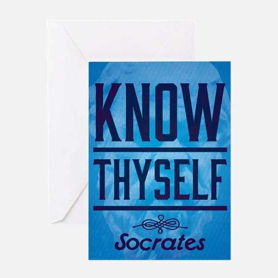 Unique Know thyself Greeting Card