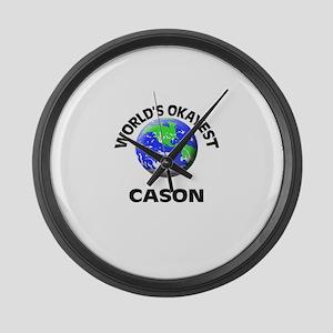 World's Okayest Cason Large Wall Clock