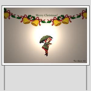 LIttle Girl Christmas Yard Sign
