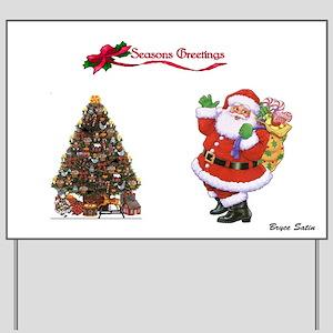 Greetings Christmas Yard Sign