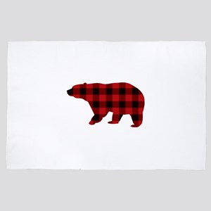 lumberjack buffalo plaid Bear 4' x 6' Rug