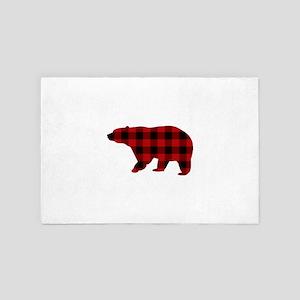 lumberjack buffalo plaid Bear 4' x 6' Rug