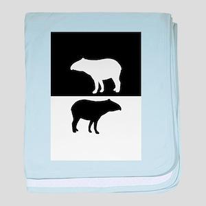 Tapirs baby blanket