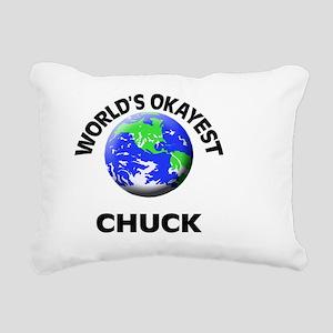 World's Okayest Chuck Rectangular Canvas Pillow