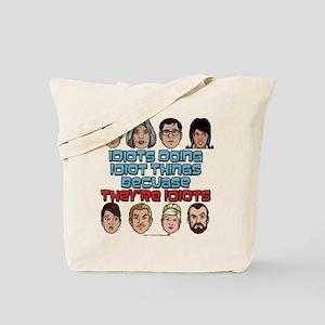 Archer Idiots Tote Bag