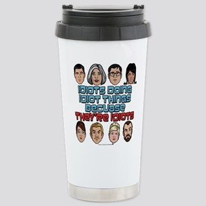 Archer Idiots Stainless Steel Travel Mug