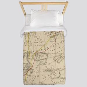 Vintage Map of Iceland (1819) Twin Duvet Cover