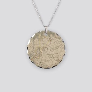Vintage Map of Iceland (1819 Necklace Circle Charm