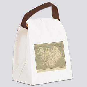 Vintage Map of Iceland (1819) Canvas Lunch Bag