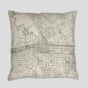 Vintage Map of Syracuse New York ( Everyday Pillow