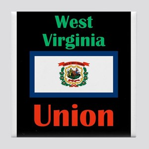 Union West Virginia Tile Coaster