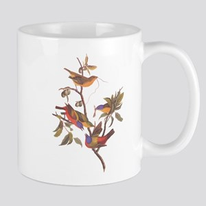 Painted Bunting Birds Vintage Art by John Jam Mugs
