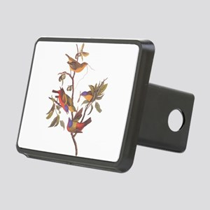 Painted Bunting Birds Vint Rectangular Hitch Cover