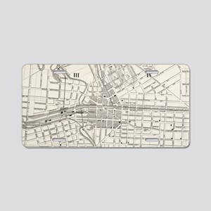 Vintage Map of Syracuse New Aluminum License Plate