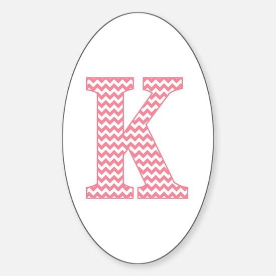 Unique Letter k Sticker (Oval)