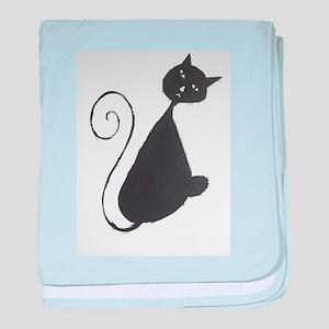 The Unhappy Cat baby blanket