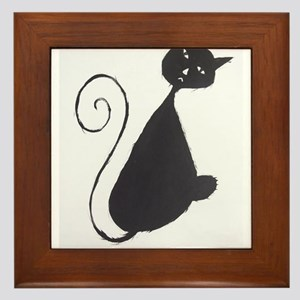 The Unhappy Cat Framed Tile