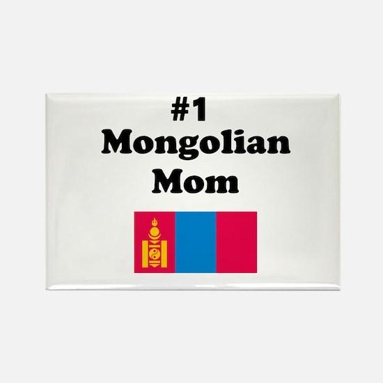 #1 Mongolian Mom Rectangle Magnet