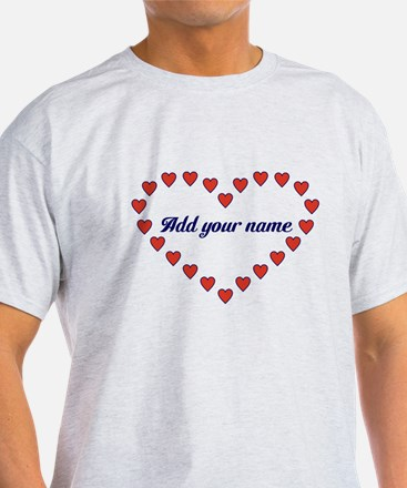 Red Hearts In A Heart T-Shirt