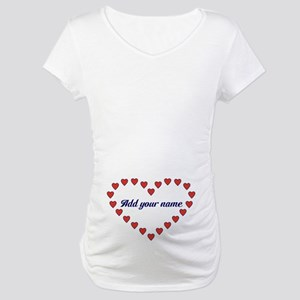 Red Hearts in A Heart Maternity T-Shirt