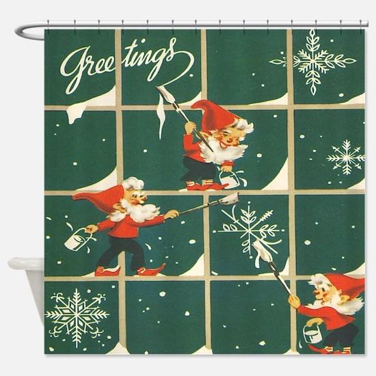 Unique Vintage santa Shower Curtain