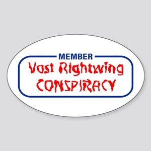 Vast Rightwing Conspiracy Oval Sticker