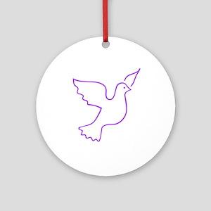 Dove Ornament (Round)