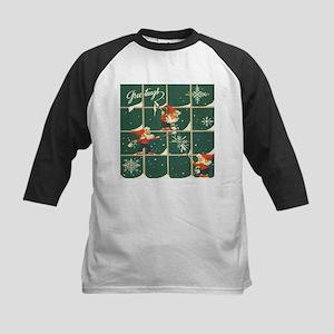 Christmas snowflakes retro elves Baseball Jersey