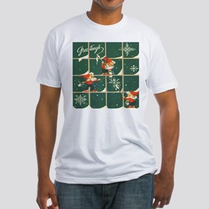 Christmas snowflakes retro elves T-Shirt