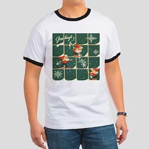 Christmas snowflakes retro elves T-Shirt