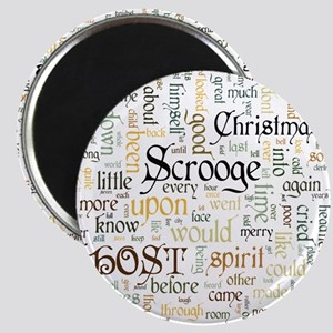 A Christmas Carol Word Cloud Magnets