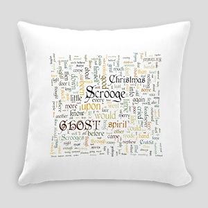 A Christmas Carol Word Cloud Everyday Pillow