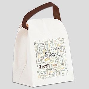 A Christmas Carol Word Cloud Canvas Lunch Bag