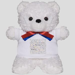 A Christmas Carol Word Cloud Teddy Bear