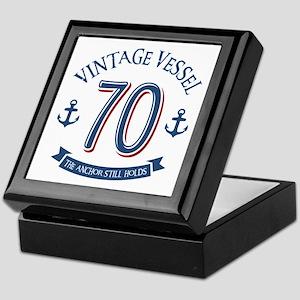 Nautical 70th Birthday Keepsake Box