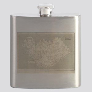 Vintage Map of Iceland (1819) Flask