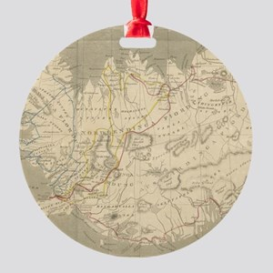Vintage Map of Iceland (1819) Round Ornament