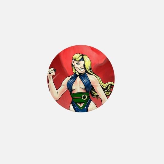 Warrior Veronica Mini Button