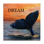 WHALE DREAMS Tile Coaster