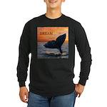 WHALE DREAMS Long Sleeve Dark T-Shirt