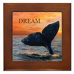 WHALE DREAMS Framed Tile
