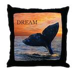 WHALE DREAMS Throw Pillow