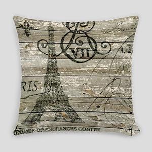 vintage paris eiffel tower Everyday Pillow