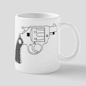 Snub Nose 45 Hand Gun Mugs